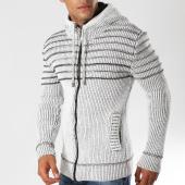 /achat-cardigans-gilets/john-h-gilet-zippe-4007-blanc-chine-155771.html
