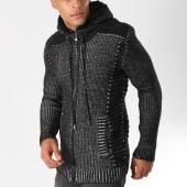 /achat-cardigans-gilets/john-h-gilet-zippe-4016-noir-chine-155774.html