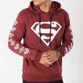 /achat-sweats-capuche/superman-sweat-capuche-logos-bordeaux-155679.html