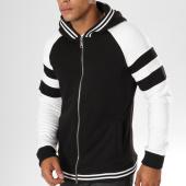 /achat-sweats-zippes-capuche/ikao-sweat-zippe-capuche-f217-noir-blanc-155846.html