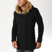 /achat-cardigans-gilets/ikao-gilet-oversize-avec-capuche-fourrure-f3499-noir-155850.html