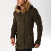 /achat-cardigans-gilets/ikao-gilet-oversize-avec-capuche-fourrure-f3499-vert-kaki-155853.html
