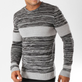 /achat-pulls/john-h-pull-3177-noir-chine-gris-155805.html