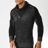 /achat-pulls/john-h-pull-col-amplified-557-noir-chine-155815.html