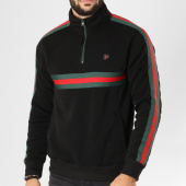 /achat-sweats-pulls/south-pole-sweat-col-zippe-avec-bandes-18321-1514-noir-155819.html