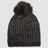 /achat-bonnets/le-temps-des-cerises-bonnet-femme-penelope-noir-argente-156050.html