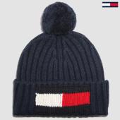 /achat-bonnets/tommy-hilfiger-jeans-bonnet-big-flag-3992-bleu-marine-155937.html