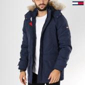 /achat-parkas/tommy-hilfiger-jeans-parka-fourrure-technical-5016-bleu-marine-155968.html
