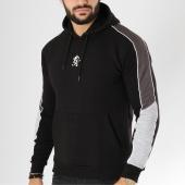 /achat-sweats-capuche/gym-king-sweat-capuche-avec-bandes-gotty-noir-gris-156123.html