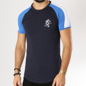 /achat-t-shirts-longs-oversize/gym-king-tee-shirt-oversize-retro-stripe-bleu-marine-bleu-clair-blanc-156131.html