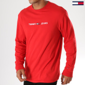 /achat-t-shirts-manches-longues/tommy-hilfiger-jeans-tee-shirt-manches-longues-small-text-5331-rouge-156060.html