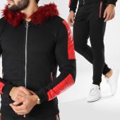 /achat-ensembles-survetement/zayne-paris-ensemble-de-survetement-fourrure-tx-137-noir-rouge-156070.html