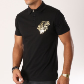 /achat-polos-manches-courtes/versace-jeans-polo-manches-courtes-print-foil-noir-dore-156241.html