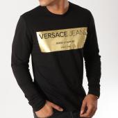/achat-t-shirts-manches-longues/versace-jeans-tee-shirt-manches-longues-print-4-foil-noir-dore-156245.html