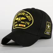 /achat-casquettes-de-baseball/jeune-riche-casquette-militari-noir-jaune-156284.html