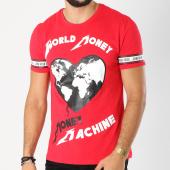 /achat-t-shirts/jeune-riche-tee-shirt-avec-bandes-world-money-rouge-156297.html
