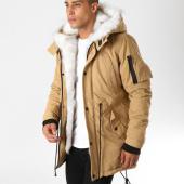 /achat-parkas/john-h-parka-fourrure-poche-bomber-8001a-beige-blanc-156398.html