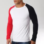 /achat-t-shirts-manches-longues/lbo-tee-shirt-manches-longues-raglan-tricolore-518-blanc-bleu-marine-rouge-156324.html