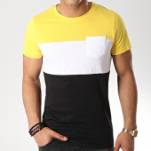 /achat-t-shirts-poche/lbo-tee-shirt-poche-559-noir-blanc-jaune-156330.html