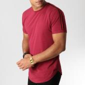 /achat-t-shirts-longs-oversize/lbo-tee-shirt-oversize-avec-bandes-noir-et-rouge-529-bordeaux-156336.html