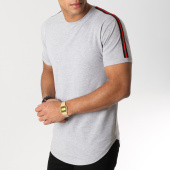 /achat-t-shirts-longs-oversize/lbo-tee-shirt-oversize-avec-bandes-noir-et-rouge-530-gris-chine-156337.html