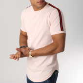 /achat-t-shirts-longs-oversize/lbo-tee-shirt-oversize-avec-bandes-noir-et-rouge-531-rose-pale-156339.html