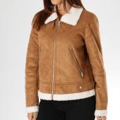 /achat-vestes/vero-moda-veste-zippee-femme-col-mouton-anais-marron-156425.html