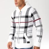 /achat-cardigans-gilets/classic-series-gilet-zippe-5802-blanc-noir-156518.html
