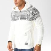 /achat-cardigans-gilets/classic-series-gilet-zippe-avec-capuche-5859-blanc-gris-chine-156528.html