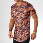 /achat-t-shirts-longs-oversize/frilivin-tee-shirt-oversize-5117-bleu-marine-orange-renaissance-156617.html