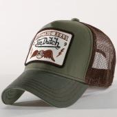 /achat-casquettes-de-baseball/von-dutch-casquette-trucker-square-6b-vert-kaki-marron-156512.html