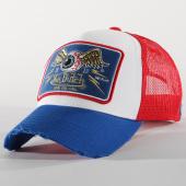 /achat-trucker/von-dutch-casquette-trucker-18-blanc-bleu-roi-rouge-156515.html