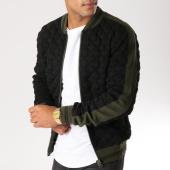 /achat-vestes/classic-series-veste-zippee-avec-bandes-m004-noir-vert-kaki-156745.html