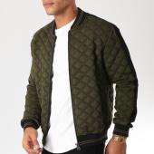 /achat-vestes/classic-series-veste-zippee-avec-bandes-m004-vert-kaki-noir-156746.html