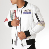 /achat-bombers/classic-series-bomber-patchs-brodes-mz8096-blanc-156749.html