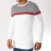 /achat-pulls/classic-series-pull-ad009-blanc-noir-rouge-156753.html