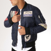 /achat-bombers/classic-series-bomber-patchs-brodes-mz8096-bleu-marine-156763.html