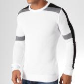 /achat-pulls/classic-series-pull-avec-bandes-ad027-blanc-noir-156777.html