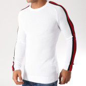 /achat-pulls/classic-series-pull-avec-bandes-ad026-blanc-noir-rouge-156811.html