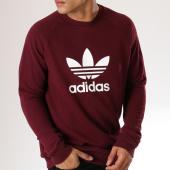 /achat-sweats-col-rond-crewneck/adidas-sweat-crewneck-trefoil-dm7835-bordeaux-blanc-156884.html