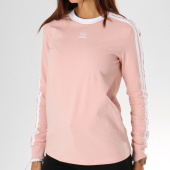 /achat-t-shirts-manches-longues/adidas-tee-shirt-manches-longues-femme-3-stripes-dh4431-rose-poudre-156985.html