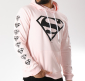 /achat-sweats-capuche/superman-sweat-capuche-logos-rose-pale-156991.html