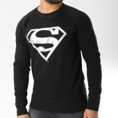 /achat-t-shirts-manches-longues/superman-tee-shirt-manches-longues-silver-logo-noir-156995.html