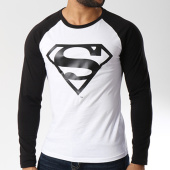 /achat-t-shirts-manches-longues/superman-tee-shirt-manches-longues-logo-blanc-noir-156997.html