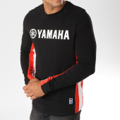 /achat-t-shirts-manches-longues/yamaha-tee-shirt-manches-longues-avec-bandes-long-noir-blanc-rouge-156943.html
