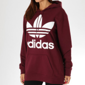 https://www.laboutiqueofficielle.com/achat-sweats-capuche/sweat-capuche-femme-trefoil-dh3152-bordeaux-blanc-157016.html