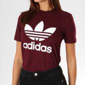 https://www.laboutiqueofficielle.com/achat-t-shirts/tee-shirt-femme-trefoil-dh3174-bordeaux-157017.html