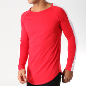 /achat-t-shirts-manches-longues/frilivin-tee-shirt-manches-longues-oversize-6678-rouge-blanc-157053.html
