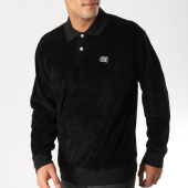 /achat-polos-manches-longues/obey-polo-manches-longues-velours-saucer-noir-157051.html