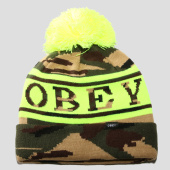 /achat-bonnets/obey-bonnet-clearwater-vert-kaki-camouflage-jaune-fluo-157057.html